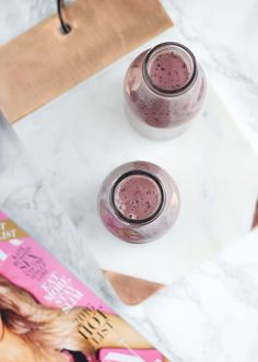Peanut Butter & Jelly Smoothie (that's totally good for you!)