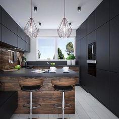 Väčšina ľudí do kuchyne volí bielu, ale @luciamorvayova_lualstudio týmto štýlovým čiernym dizajnom trafila... No predsa do čierneho 😉 #MilujemeDizajn #Inspiration #Dreamhome #bratislava #design #InteriorDesign #black #photooftheday #arvinbenet #lifestyle #kitchen #slovakia #real estate #RealitnaKancelaria #wow