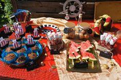 Piratenparty, Essen, Food Deco, Dekoration, pirate party, muffin, melone, marshmallows, design