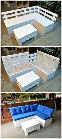 Pallet Sectional Sofa with Storage - 150 Best DIY Pallet Projects and Pallet Furniture Crafts - Page 65 of 75 - DIY & Crafts
