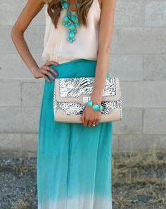 Marine blue dress & accesories + white top + amazing snake print bag