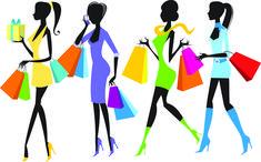 free vector Fashion shopping girl vector