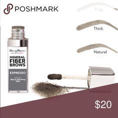 Fiber Brow by Cherry Blossom Fiber Brow mineral kit with Sentcils color ESPRESSO (Black & Grey) Makeup Eyebrow Filler