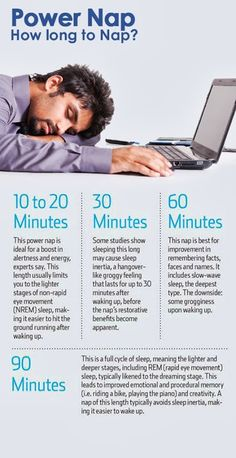 How long should you nap? Often your body can tell you. But how long you actually nap, if at all, depends on how you're feeling, what you need to do, and where you are. Health And Wellness, Health And Beauty, Health Fitness, Get Healthy, Healthy Tips, Nap Benefits, Health Facts, Insomnia, Body Care