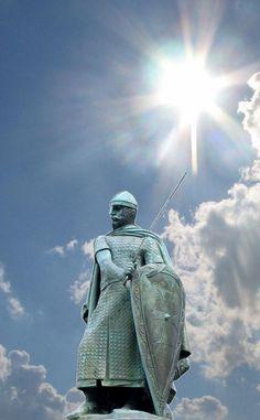 Heróis medievais: D. Afonso Henriques (PORTUGAL).