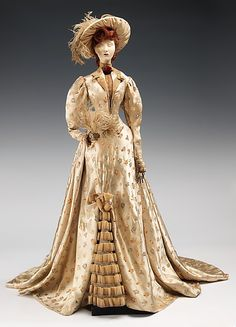 """1890 Doll"" with costume by Georgette Renal, made in 1949 as part of the Friendship Train. This dress was inspired by a design by British-born designer John Redfern."
