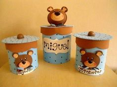 Baby Shawer, Baby Kit, Tin Can Crafts, Diy Home Crafts, Aluminum Cans, Origami Animals, Art N Craft, Cardboard Crafts, Origami Paper