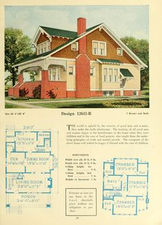 Central's book of homes Craftsman Bungalow Exterior, Bungalow Homes, Craftsman Style Homes, Craftsman Bungalows, Craftsman House Plans, Vintage House Plans, Vintage Homes, Sims House, Home Fashion