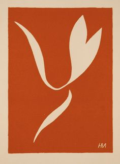 Henri Matisse, Skater in Motion I, Original color linocut, 1939, published in deluxe art review, Verve in 1939.