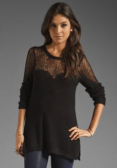 Free People Cozy Ginger Pullover in Black
