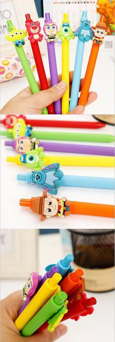 Kawaii Cartoon Toy Story Monsters University gel pen 0.5mm Black Pen Kid Gift Papelaria Stationery Office School Supplies WJ375