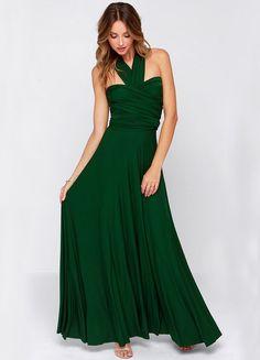 Vestido Maxi sin espalda-verde 22.80
