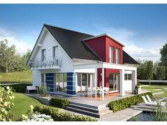Innovation R - Haus R140_1_V36 - #Einfamilienhaus von RENSCH-HAUS GMBH | HausXXL #Fertighaus #Energiesparhaus #Nullenergiehaus #modern #Satteldach