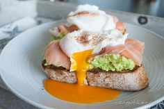 Avocado Smash, Salmon and Poached Egg on Toast - Eating With Katie