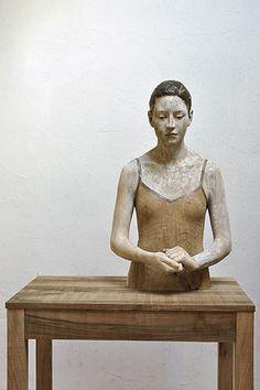 Bruno Walpoth - wood; Alessia - nut wood - cm 77 x 46 x 38, 2013