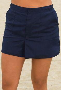 Chlorine Reistant! Beach Belle Navy Plus Size Cargo Short