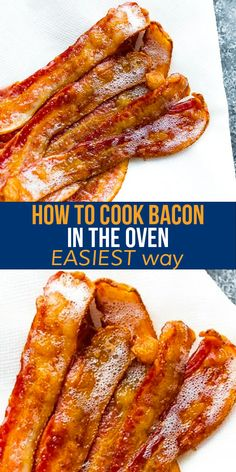 Showing you exactly how to cook bacon in the oven with step by step photos. This is the EASIEST way to cook perfectly crisp and perfectly straight bacon! #sweetpeasandsaffron #bacon #howto Best Breakfast Recipes, Best Dinner Recipes, Breakfast Meals, Amazing Recipes, Slow Carb Recipes, Pork Recipes, Slow Cooker Freezer Meals, Bacon In The Oven, Spiralizer Recipes
