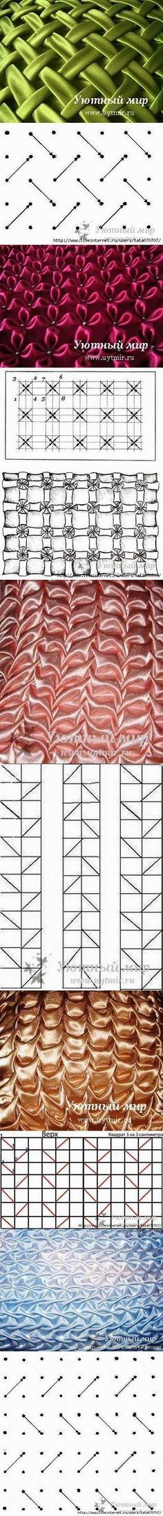 DIY Pillow Puff Schemes by diyforever Smocking Tutorial, Smocking Patterns, Sewing Patterns, Dress Patterns, Coat Patterns, Fabric Crafts, Sewing Crafts, Sewing Projects, Diy Projects