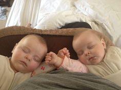Breastfeeding lesbian twins
