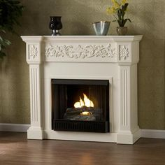 Upton Home Wellington Ivory Gel Fireplace - Overstock™ Shopping - Great Deals on Upton Home Indoor Fireplaces