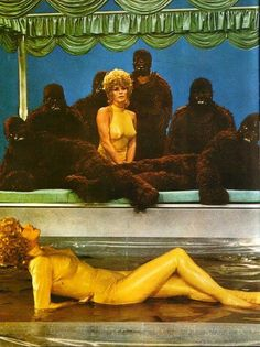 Annual meeting of the Gorilla Men with their special guest star, Nearly Golden Lady.