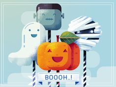 "via Muzli. ""Animations and illustrations for Halloween"" is published by Muzli in Muzli - Design Inspiration. Illustration Example, Flat Design Illustration, Digital Illustration, Graphic Illustration, Halloween Kunst, Halloween Artwork, Halloween Pictures, Halloween Halloween, Halloween Designs"