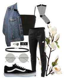 """""""he's a real nowhere man"""" by qimmig on Polyvore featuring Topshop, Sunday Somewhere, adidas, Vans, BillyTheTree, Pyrrha and Witchery"""