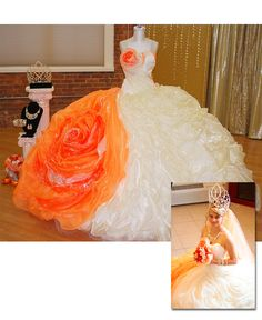 Strategies and ideas for unique quinceanera dresses: You must take a little bit of time so you know what is fashionable each season. Maxi Bridesmaid Dresses, Long Wedding Dresses, Wedding Gowns, Prom Dresses Online, Dresses For Sale, Crazy Dresses, Arabian Prom Dress, Sondra Celli, Girls Butterfly Costume