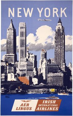 Vintage New York Travel Poster. #vintage #newyork #travel
