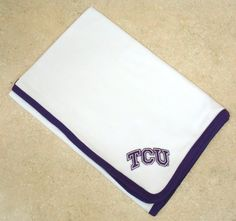 Keep your little fan snug & warm! Future Tailgater by DHM Kids - Texas Christian TCU Horned Frogs Baby Receiving Blanket, $19.99