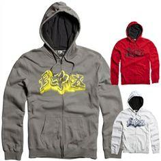2013 Fox Racing Unruler Zip Casual Motocross MX Apparel Insulated Adult Hoody