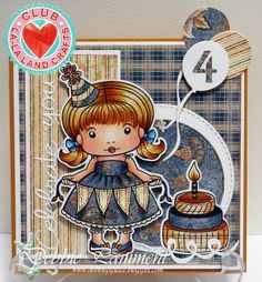 Card by Debbie Pamment featuring Club La-La Land Crafts (May 2015) exclusive Celebrate You Marci, Time to Celebrate Stamp Set and these Dies - Balloons Dies (Set of 3), Celebrate You words Die, Numbers Dies and Fancy Label Die :-)   Club La-La Land Crafts subscription details are here - http://lalalandcrafts.com/Club_La-La_Land_Crafts.html    Coloring details and more Design Team inspiration here - http://lalalandcrafts.blogspot.ie/2015/06/club-la-la-land-crafts-may-2015_9.html