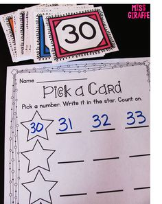 Counting on from any number math stations, worksheets, and activities that are…