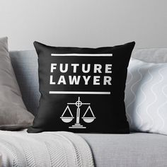 'Future Lawyer – student of law school' Throw Pillow by RIVEofficial - Mi Hermoso Mundo Lawyer Fashion, Law School, Custom Design, Student, Throw Pillows, Trends, Future, Artists, Group