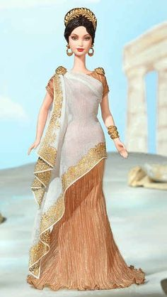 Princess of Ancient Greece™ Barbie® Doll | Barbie Collector (greek dress) Greek clothing through Modern eyes.