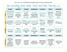 Free GF Whole Food Meal Plans with links to all of the recipes – includes breakfast, lunch and dinner!