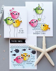 I am a puffer for you Hero Arts | Funny Puffer Fish Cards - Let's Float Away Together