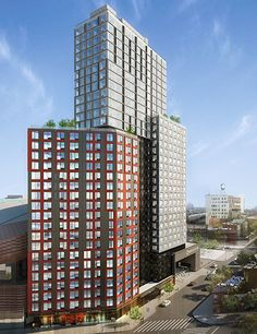 A 346,000-square-foot, 32-story residential tower called B2 is currently being stacked up near Brooklyn's Barclays Center into what will become the tallest modular, prefabricated building in the world. For the project, half of which is meant to provide affordable housing to New York City's low- and middle-income residents, 930 steel-framed boxes form the infrastructure of the building. Each unit is highly customizable, with 23 apartment configurations and 64 variations.