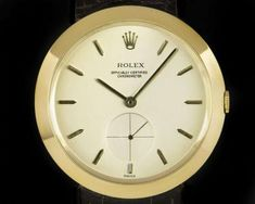 Rolex Chronometer Vintage Gents 18k Yellow Gold Silver Dial 9175