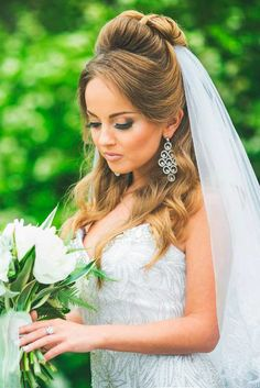 wedding hairstyles with veil 6