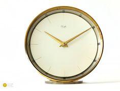 German ART DECO Alarm Desk CLOCKs - Mechanical Mid Century Modern ...