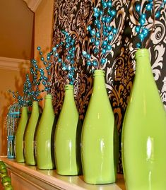 Easy & Creative Decor Ideas - Spray Painted Wine Bottle Vases - Click Pic for 38 DIY Home Decor Ideas on a Budget