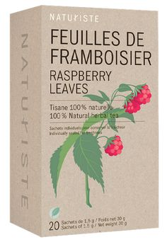 Naturiste raspberry leaf tea package | design by paprika (Montreal)