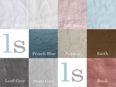 Linen Color Card | Natural | Optic White | Dyed Linen – linenshed
