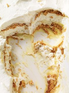 Ricardo& recipe : Lemon and Graham Cracker Layered Pudding Desserts With Biscuits, No Bake Desserts, Just Desserts, Delicious Desserts, Dessert Recipes, Yummy Food, Tasty, Lemon Desserts, Dessert Ideas