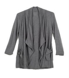 332df0df9da Upcycled Grey Pocket Cardigan by Raven and Lily - This grey eco-friendly  cardigan is