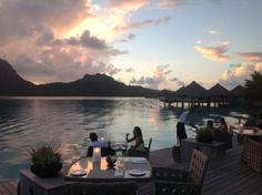 Dinner in Bora Bora @ St Regis