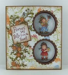 From My Craft Room: Double Peek-A-Boo Card Fancy Handmade Playing cards Fancy Fold Cards, Folded Cards, Slider Cards, Handmade Card Making, Magnolia Stamps, Beautiful Handmade Cards, Easel Cards, Card Tutorials, Peek A Boos