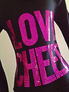 Love Cheer Black & Pink Cheerleading Zip Up Hoodie by Bowfriendz, $34.99