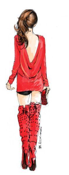 Fashion illustration by, Xunxun-Missy~❥